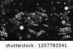 percent sings on dark...   Shutterstock .eps vector #1357783541