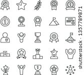 thin line vector icon set  ... | Shutterstock .eps vector #1357789871