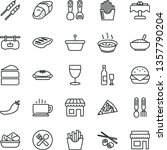 thin line vector icon set  ... | Shutterstock .eps vector #1357790204