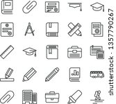 thin line vector icon set  ... | Shutterstock .eps vector #1357790267
