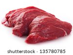raw beef isolated on white... | Shutterstock . vector #135780785