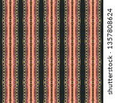 colorful seamless embroidery... | Shutterstock . vector #1357808624