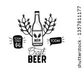 craft beer label isolated icon | Shutterstock .eps vector #1357811177