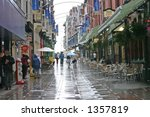 a rainy day in southport england | Shutterstock . vector #1357819