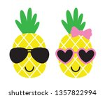 cute pineapples boy and girl... | Shutterstock .eps vector #1357822994
