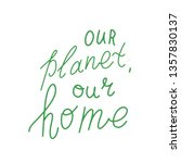 happy earth day. conceptual... | Shutterstock .eps vector #1357830137