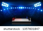 boxing ring arena and... | Shutterstock .eps vector #1357831847