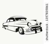 vintage car illustration  | Shutterstock . vector #1357835861