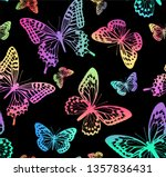 pattern with rainbow... | Shutterstock .eps vector #1357836431