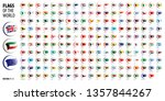 national flags of the countries.... | Shutterstock .eps vector #1357844267