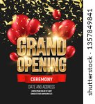 grand opening banner with... | Shutterstock .eps vector #1357849841