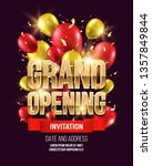 grand opening banner with... | Shutterstock .eps vector #1357849844
