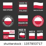 made in poland icon set  made... | Shutterstock .eps vector #1357853717
