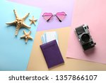 documents  photo camera ... | Shutterstock . vector #1357866107