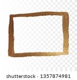 gold frame paint brush vector... | Shutterstock .eps vector #1357874981