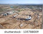 Stadium construction of future Spring Training facility in Mesa, Arizona - stock photo