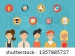 social network and teamwork... | Shutterstock . vector #1357885727