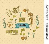 illustration of style hipster ... | Shutterstock .eps vector #135788699