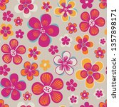 seamless vector pattern with... | Shutterstock .eps vector #1357898171