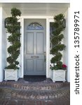 front door of an upscale home... | Shutterstock . vector #135789971