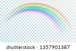 colored transparent rainbow.... | Shutterstock .eps vector #1357901387