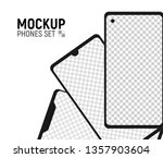 mobile phones collection mockup....