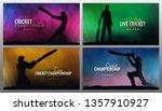 cricket championship banner or... | Shutterstock .eps vector #1357910927