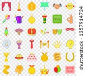 prize icons set. cartoon style... | Shutterstock .eps vector #1357914734