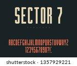 latin uppercase alphabet... | Shutterstock .eps vector #1357929221