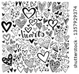 set of black hand drawn vector... | Shutterstock .eps vector #1357929374