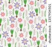 gardening seamless pattern with ... | Shutterstock .eps vector #1357934501
