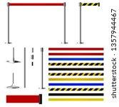 set to create metal barriers... | Shutterstock .eps vector #1357944467