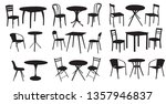 table and chair  set of... | Shutterstock .eps vector #1357946837