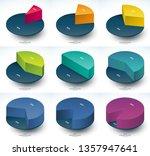 set of infographic isometric... | Shutterstock .eps vector #1357947641