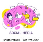 vector business illustration of ... | Shutterstock .eps vector #1357952054