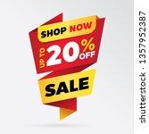 sale banner template design  up ...   Shutterstock .eps vector #1357952387
