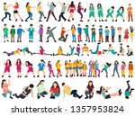 white background  a collection ... | Shutterstock .eps vector #1357953824