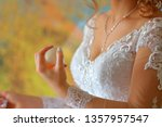 bride using perfume before... | Shutterstock . vector #1357957547