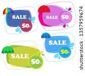 umbrella stickers collection... | Shutterstock .eps vector #1357959674