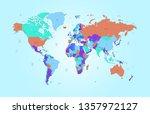 color world map vector | Shutterstock .eps vector #1357972127