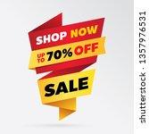 sale banner template design  up ...   Shutterstock .eps vector #1357976531