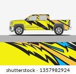 truck wrap design template | Shutterstock .eps vector #1357982924