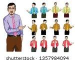 an asian teacher or government... | Shutterstock .eps vector #1357984094