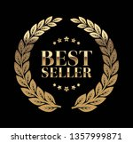 best seller gold sign with... | Shutterstock .eps vector #1357999871