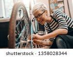 beautiful caucasian female... | Shutterstock . vector #1358028344