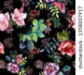 bouquet composition botanical...   Shutterstock . vector #1358037917