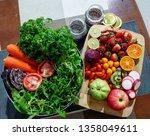 vegetables food and drink   Shutterstock . vector #1358049611