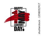 happy labour day vector label... | Shutterstock .eps vector #1358052917