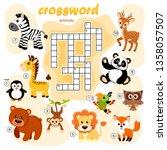 crossword puzzle game of... | Shutterstock .eps vector #1358057507