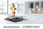 Black Glass Gas Cooker And...